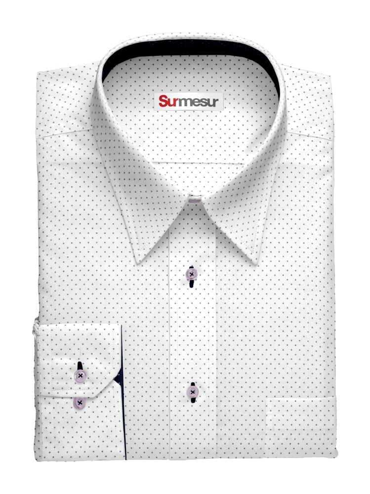 Dress shirt Purple Pindot