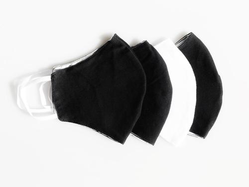 Reusable Face Protection The Reusable Cotton Mask - B&W - 4x