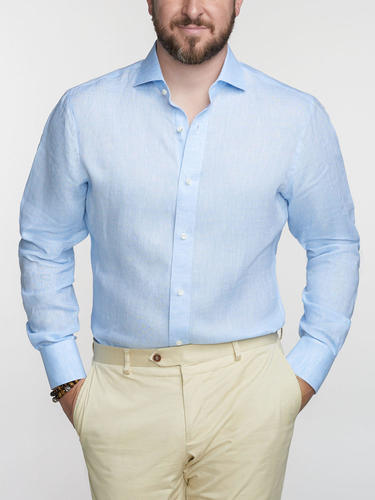 Dress shirt Light Blue Linen Dress Shirt