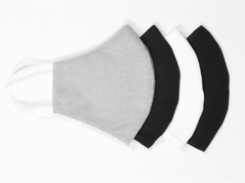 Reusable Face Protection The Reusable Cotton Mask - Grey, Black & White - 4x