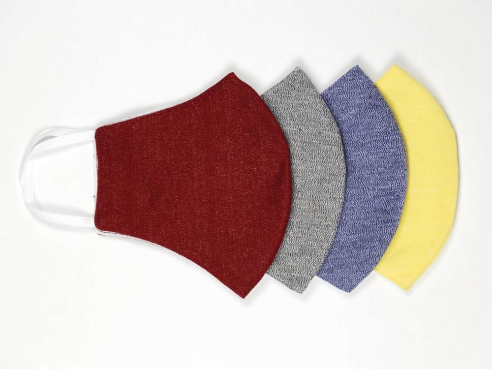 Reusable Face Protection The Reusable Cotton Mask - Red, Grey, Blue & Yellow - 4x