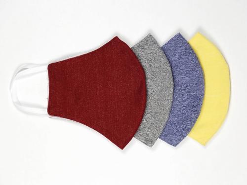 Couvre-visage réutilisable Le masque réutilisable en coton - Rouge, Gris, Bleu & Jaune - 100x
