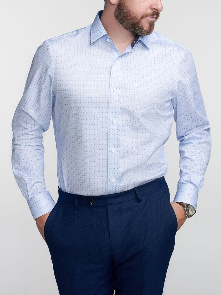 Chemise sport Imprimé bleu pâle avec contraste - Walker