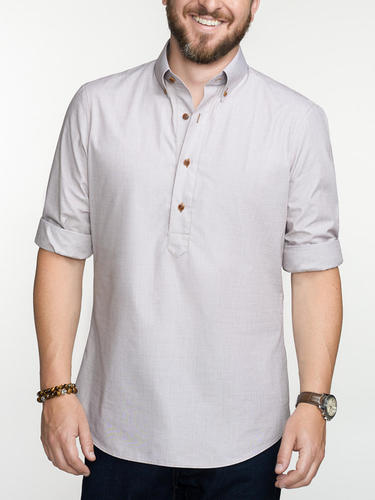 Sport shirt Sand-coloured Popover Sport Shirt