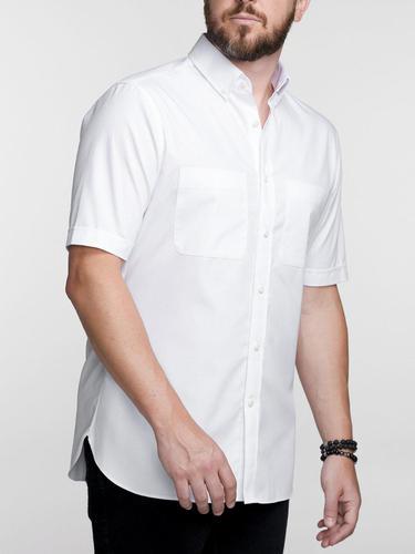 Chemise sport Blanche décontractée à manches courtes - Charlotte