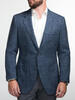 Jacket Dark Blue Wool-Linen Blend - Oscar +