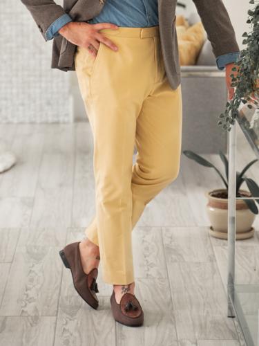 Chino Dijon Yellow - Soktas Taylord