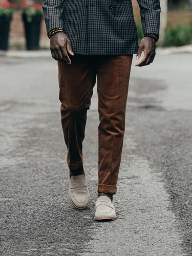 Trousers Warm Earth Brown Corduroy Trousers