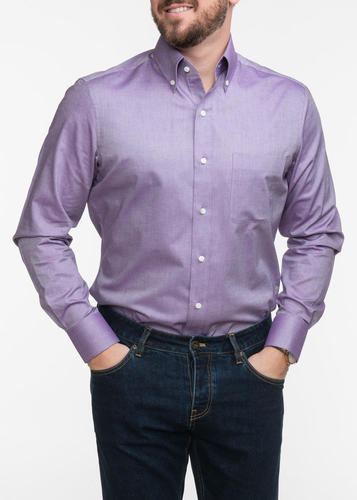 Sport shirt Light Purple Pinpoint Oxford Button Down Sport Shirt