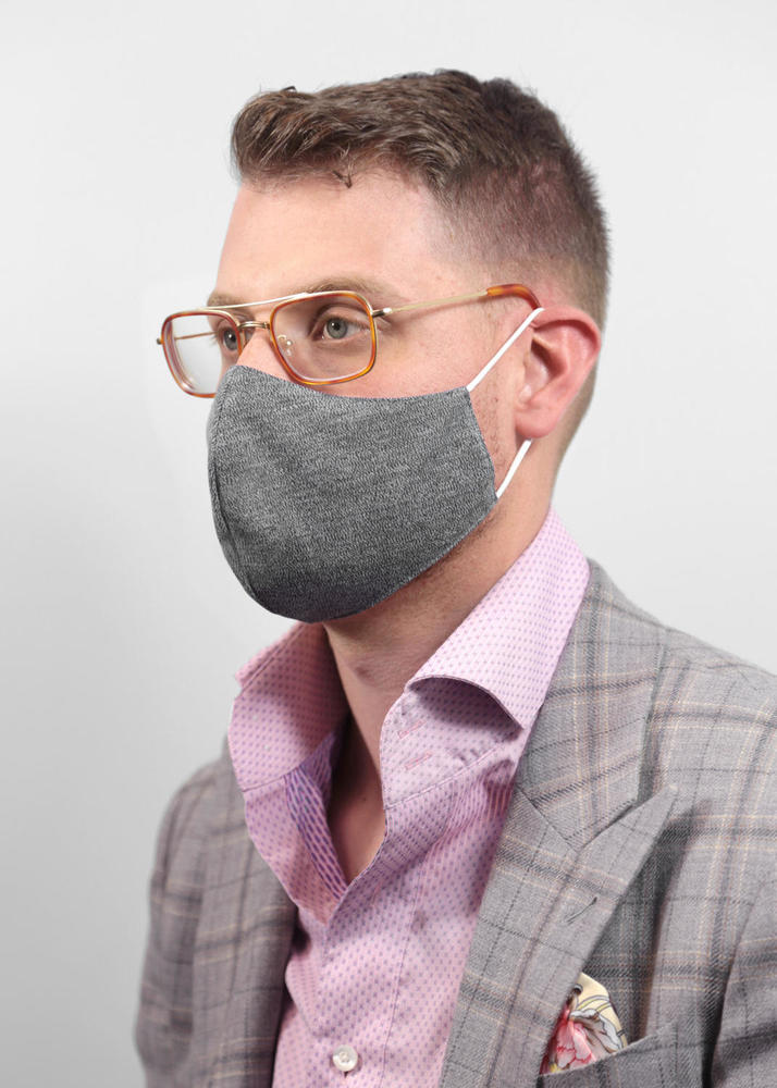 Reusable Face Protection Adjustable Face Mask - Heather Grey