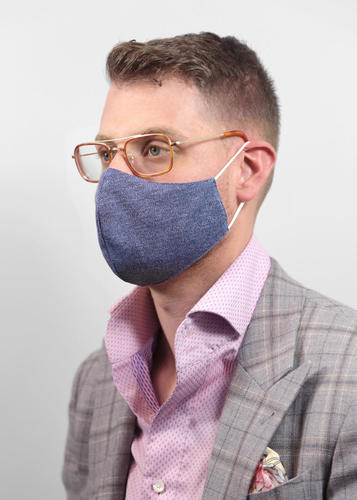 Reusable Face Protection Adjustable Face Mask - Blue