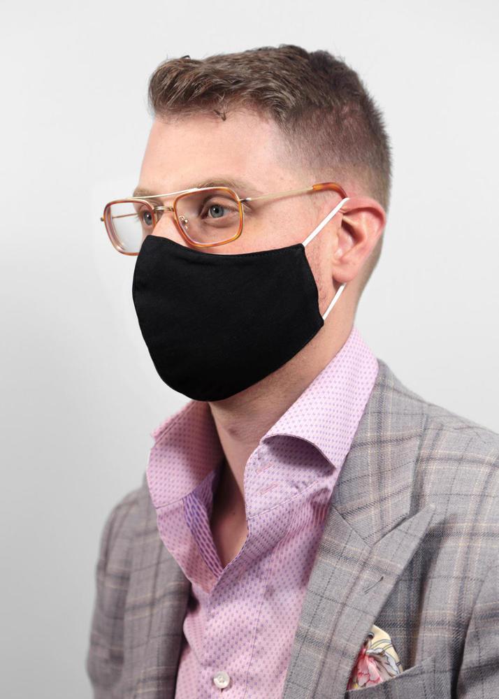 Couvre-visage réutilisable Masque ajustable - Noir