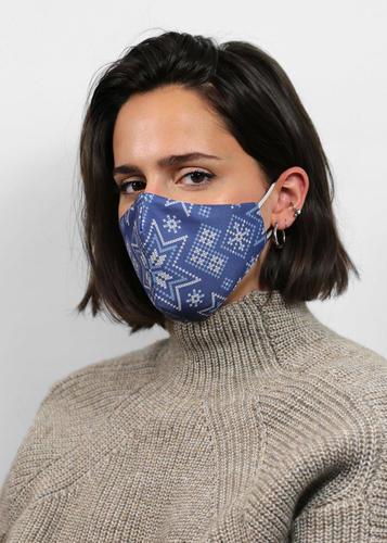 Couvre-visage réutilisable Masque des fêtes - Givre d'hiver