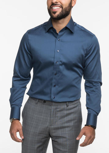 Chemise sport Chemise soyeuse bleue à pois