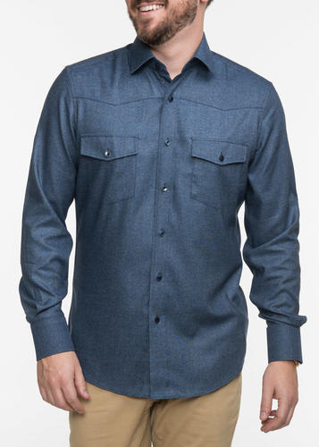 Sport shirt Blue Bamboo Chambray Sport Shirt