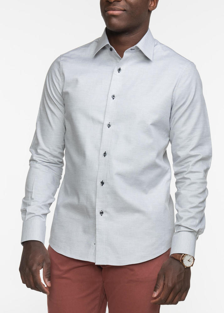 Sport shirt Light Grey Pinpoint Sport Shirt