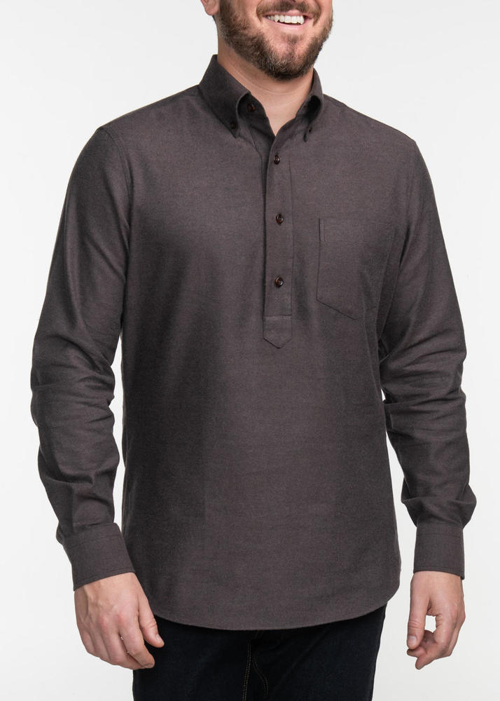 Sport shirt Brown Popover Sport Shirt