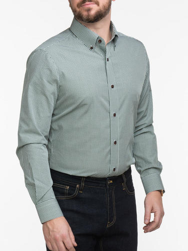 Chemise habillée Chemise verte à carreaux vichy