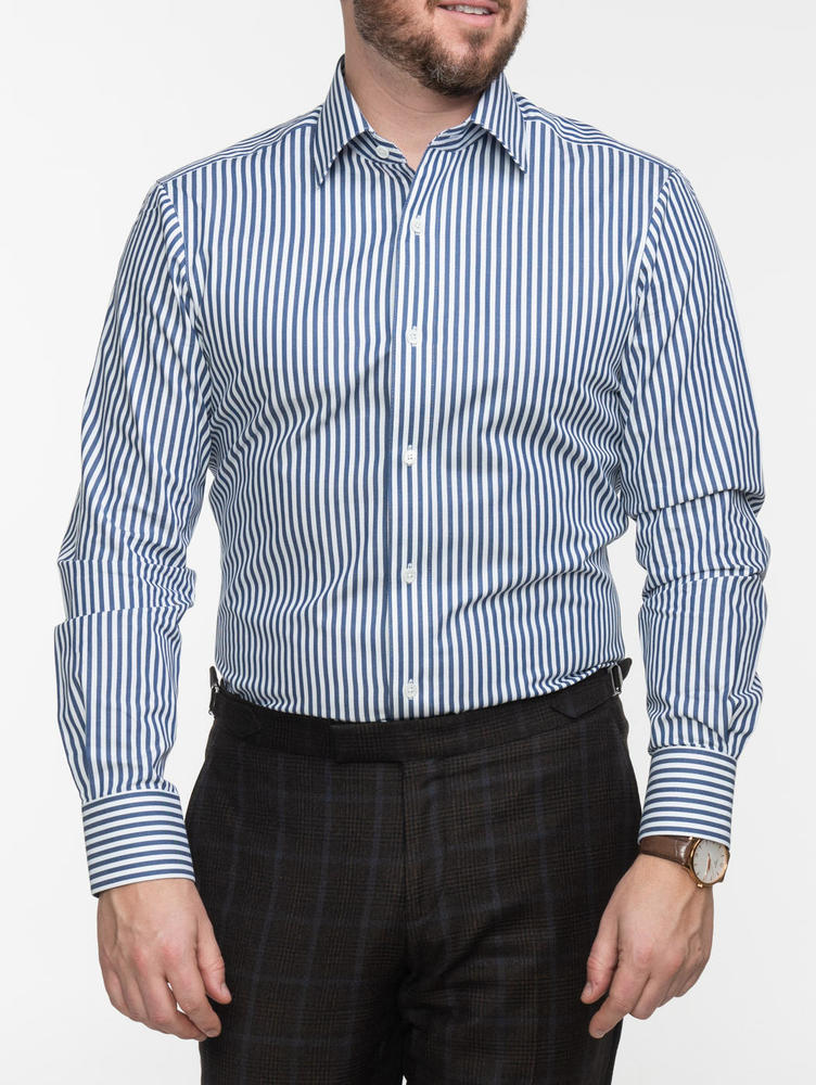 Dress shirt Navy Bengal Stripes Shirt