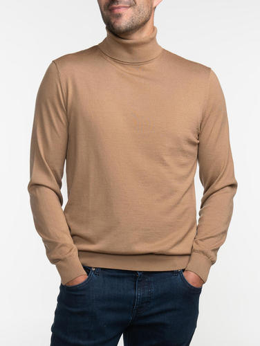 Turtlenecks Camel Turtleneck - S