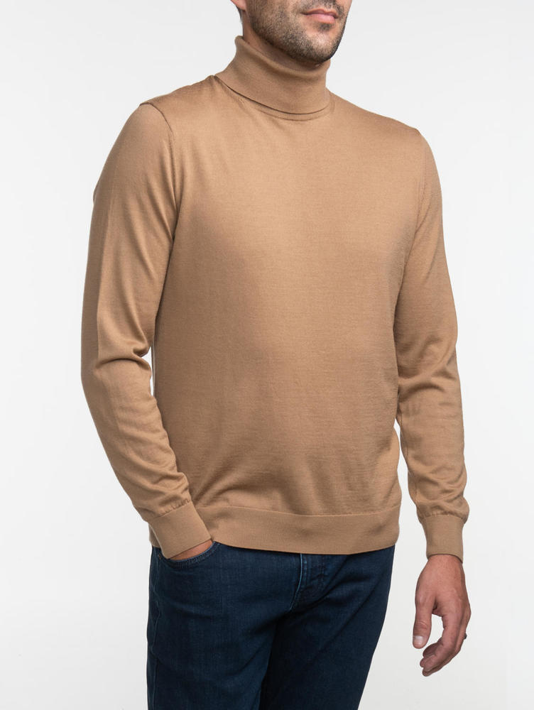 Turtlenecks Camel Turtleneck - M