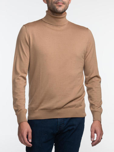 Turtlenecks Camel Turtleneck - L