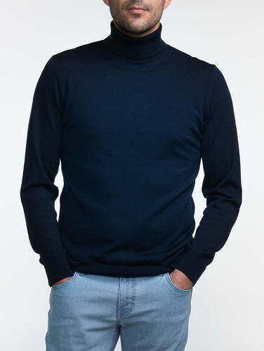 Turtlenecks Navy Turtleneck - S