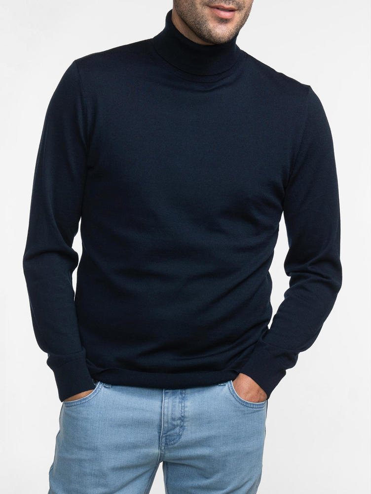 Turtlenecks Navy Turtleneck - M