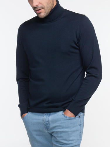 Turtlenecks Navy Turtleneck - L