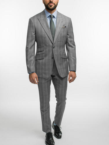 Suit Cyber Grey Windowpane Wool Suit