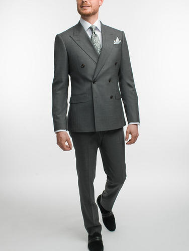 Suit Spanish Grey Double Breasted Wool Suit