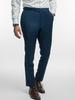 Trousers Oil Blue Plain Wool Trousers