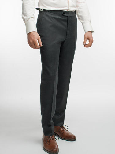 Trousers Textured Grey Wool Trousers