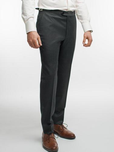 Pantalon Pantalon gris texturé en laine