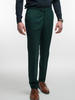 Trousers Emerald Green Plain Wool Trousers