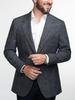 Jacket Dark Grey Wool-Linen-Silk Blend Sports Jacket