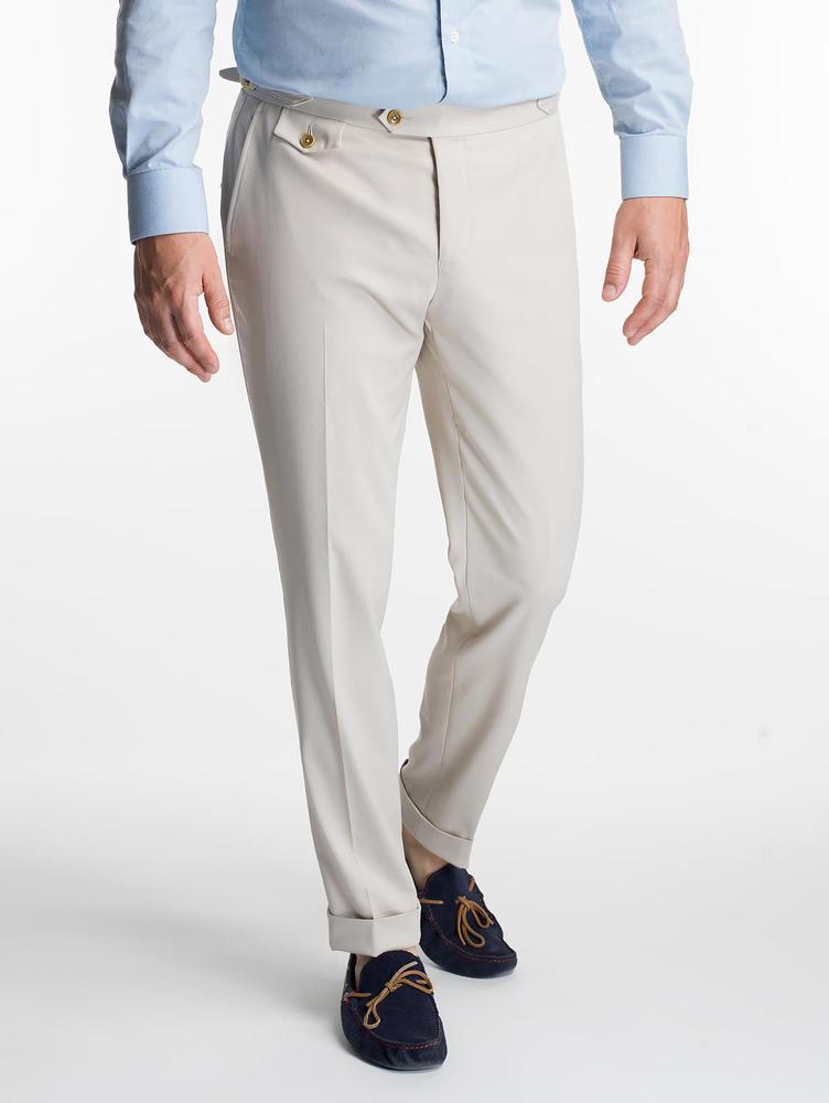 CHINO Chino kaki clair en coton