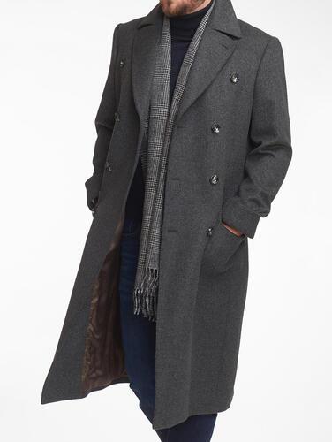 MANTEAU Manteau gris ulster en coupe croisée