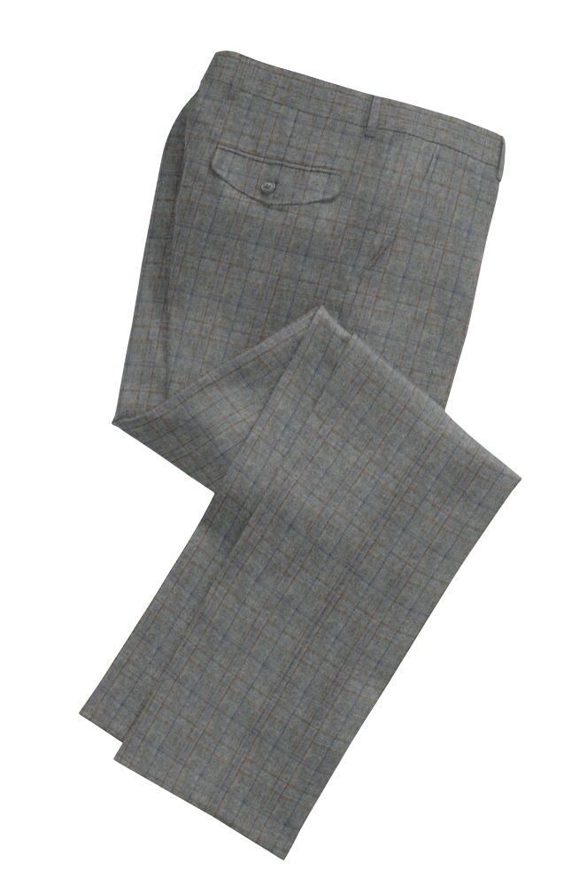 Trousers Grey Brown and Blue