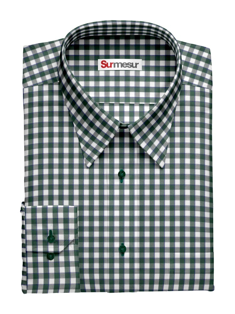 Dress shirt Green Gingham