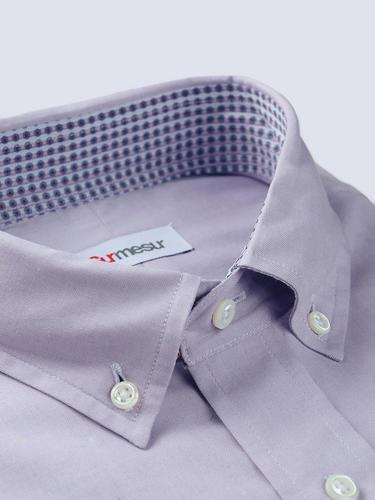 Chemise habillée Chemise lilas avec contraste