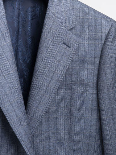 Jacket Blue Glen Plaid Wool Sports Jacket