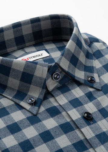Sport shirt Grey & Navy Check Sport Shirt