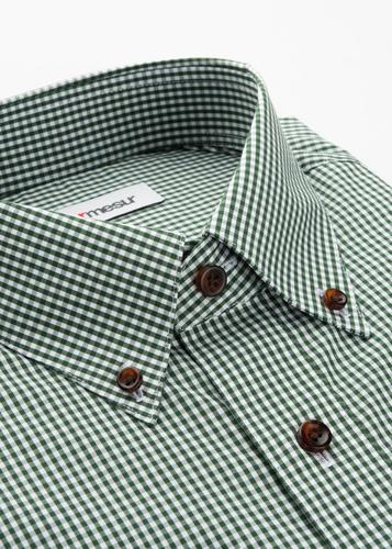 Dress shirt Green Gingham Shirt