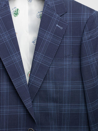 Suit Blue Plaid Wool Suit