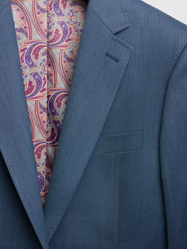 Suit Blue Denim-Like Wool Suit