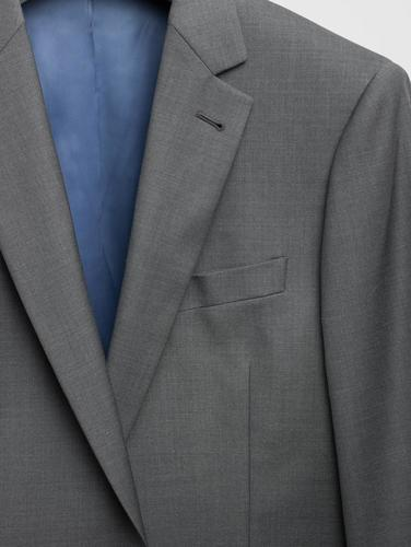 3-piece suit Charcoal Plain Wool 3-Piece Suit
