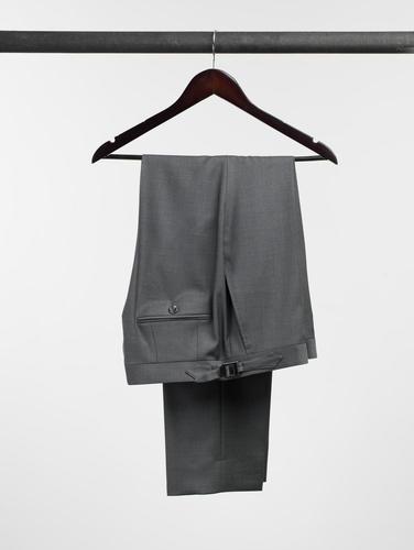 TROUSERS Charcoal Plain Wool Trousers