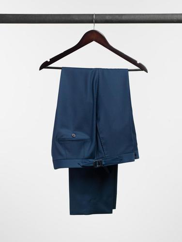 Pantalon Pantalon bleu uni en laine