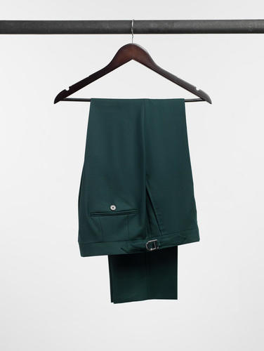 Pantalon Pantalon vert émeraude uni en laine